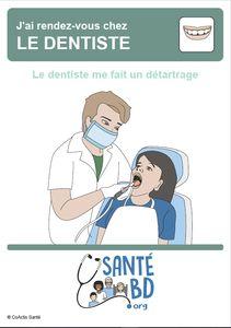 Le dentiste me fait un détartrage