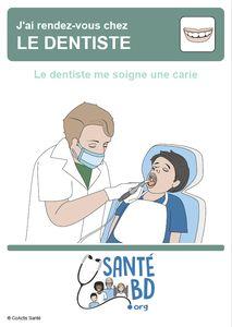 Le dentiste me soigne une carie